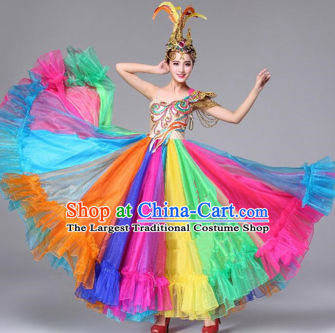 Top Grade Chorus Opening Dance Bubble Dress Modern Dance Stage Performance Costume for Women