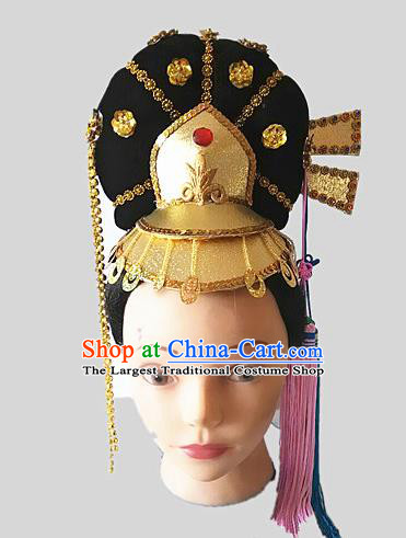 Chinese Traditional Classical Dance Hair Accessories Peri Dance Headwear for Women