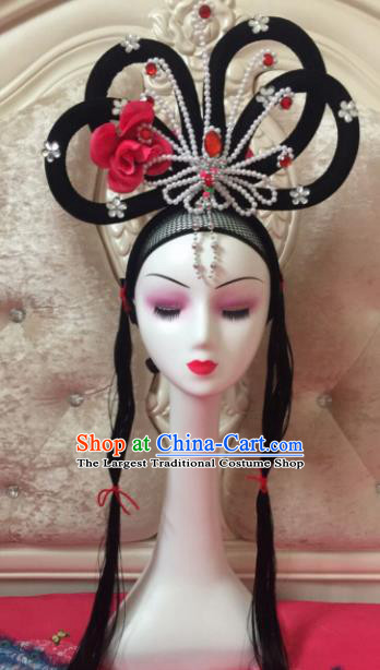 Chinese Traditional Beijing Opera Wig Sheath Peking Opera Peri Hair Accessories for Women