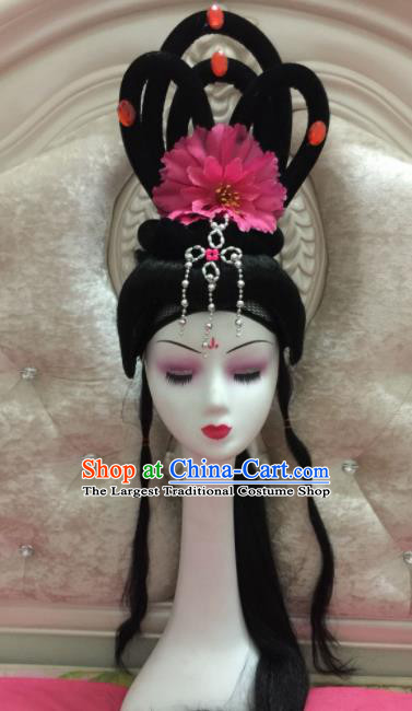 Chinese Traditional Beijing Opera Peri Wig Sheath Peking Opera Peri Hair Accessories for Women