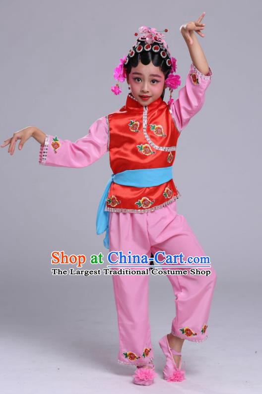 Chinese Traditional Beijing Opera Costume Peking Opera Diva Clothing for Kids