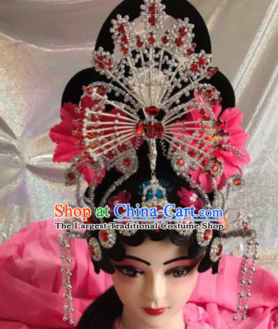 Chinese Traditional Beijing Opera Diva Wigs and Phoenix Hairpins Peking Opera Princess Hair Accessories for Women