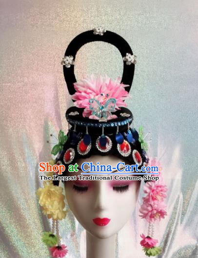 Chinese Traditional Beijing Opera Princess Wigs and Hairpins Peking Opera Peri Hair Accessories for Women