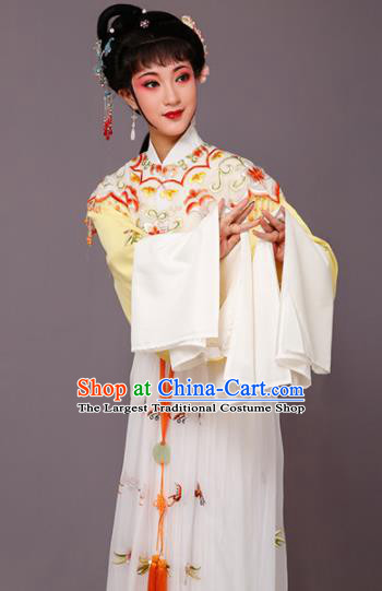 Chinese Traditional Beijing Opera Princess Costume Peking Opera Diva White Dress for Women