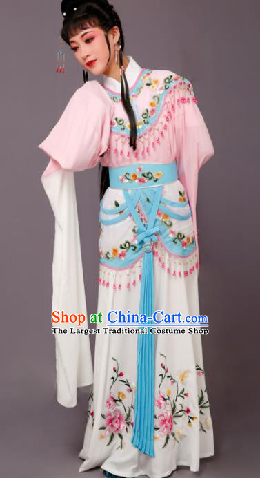 Chinese Traditional Beijing Opera Hua Dan Costume Peking Opera Princess Pink Dress for Women