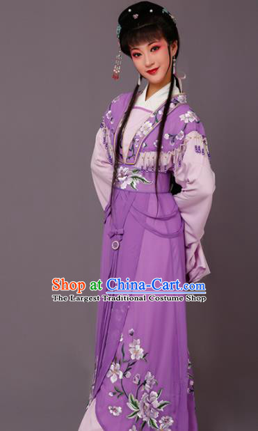 Chinese Traditional Peking Opera Princess Purple Dress Beijing Opera Hua Dan Costume for Women