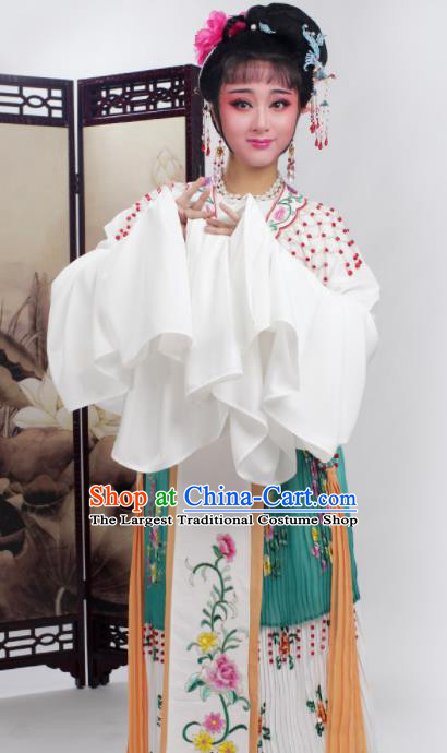 Chinese Traditional Huangmei Opera Princess Deep Green Dress Beijing Opera Hua Dan Costume for Women