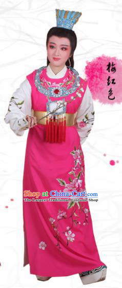 Chinese Traditional Peking Opera Jia Baoyu Embroidered Rosy Robe Beijing Opera Niche Costume for Men
