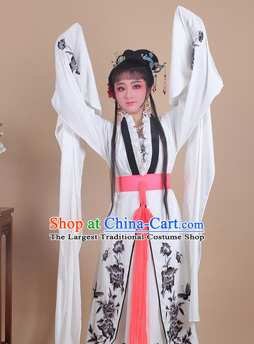 Chinese Traditional Shaoxing Opera Embroidered Black Peony Dress Beijing Opera Hua Dan Costume for Women