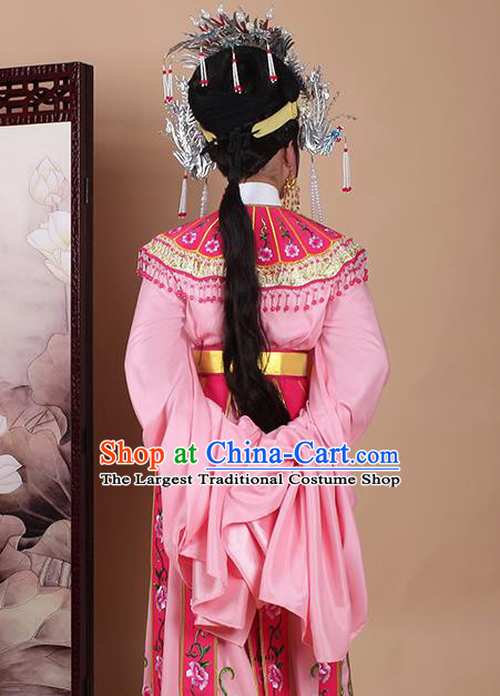 Chinese Traditional Shaoxing Opera Princess Pink Dress Beijing Opera Hua Dan Embroidered Costume for Women