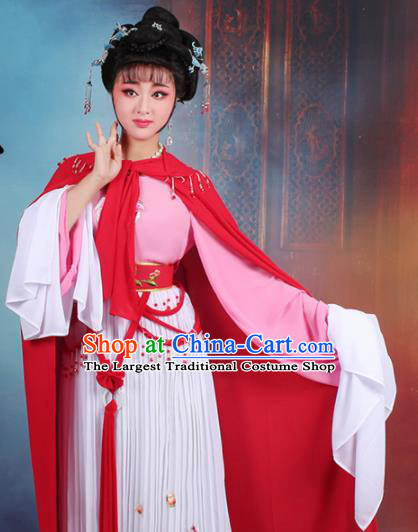 Chinese Traditional Shaoxing Opera Hua Dan Embroidered Dress Beijing Opera Peri Costume for Women