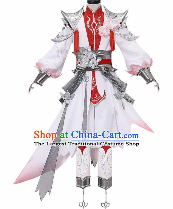 Chinese Traditional Cosplay Nobility Childe Costume Ancient Swordsman Knight Hanfu Clothing for Men