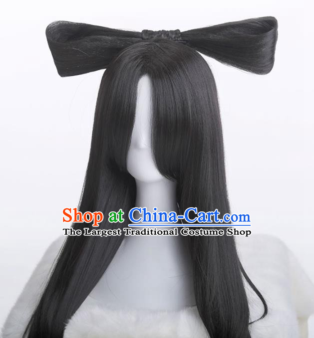 Chinese Traditional Cosplay Swordswoman Hair Accessories Ancient Imperial Consort Wigs for Women