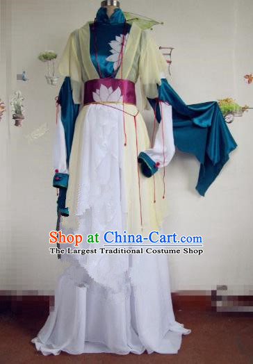 Chinese Traditional Cosplay Swordswoman Costume Ancient Female Assassin Hanfu Dress for Women