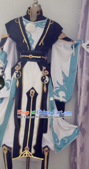 Chinese Traditional Cosplay Young Knight Costume Ancient Swordsman Hanfu Clothing for Men