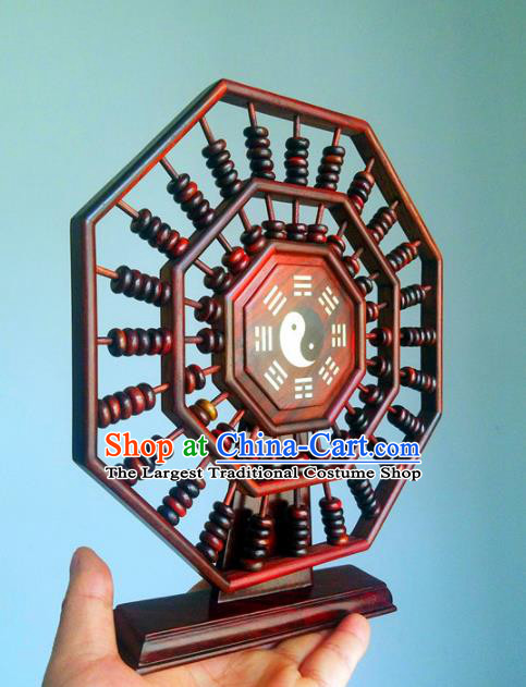 Chinese Traditional Feng Shui Items Taoism Bagua Rosewood Tai Chi Abacus Decoration