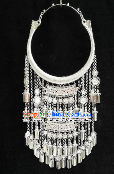 Chinese Traditional Ethnic Jewelry Accessories Miao Nationality Tassel Necklace for Women