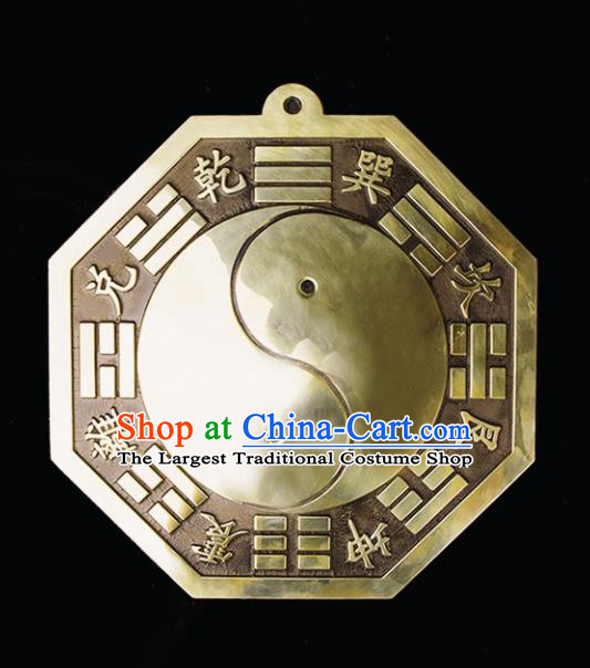 Chinese Traditional Feng Shui Items Taoism Eight Diagrams Bronze Mirror Bagua Decoration