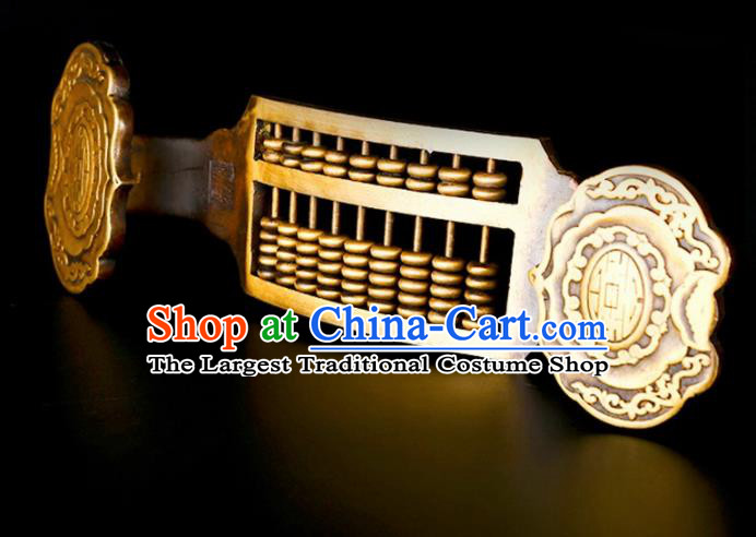 Chinese Traditional Feng Shui Items Taoism Bagua Brass Lucky Abacus Decoration