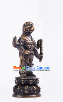 Chinese Traditional Feng Shui Items Taoism Bagua Brass Chinese Zodiac Monkey Statue Decoration