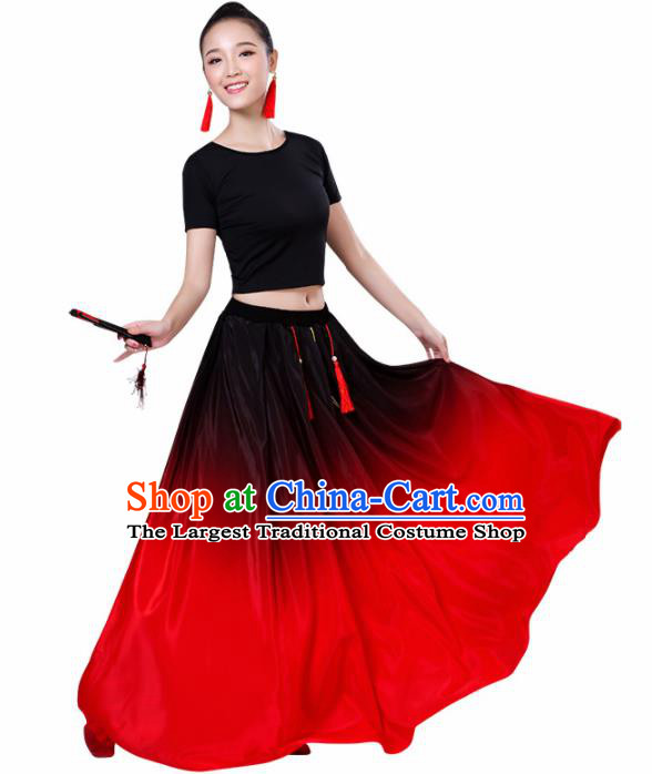 Chinese Traditional Stage Performance Dance Costume Classical Dance Group Dance Dress for Women