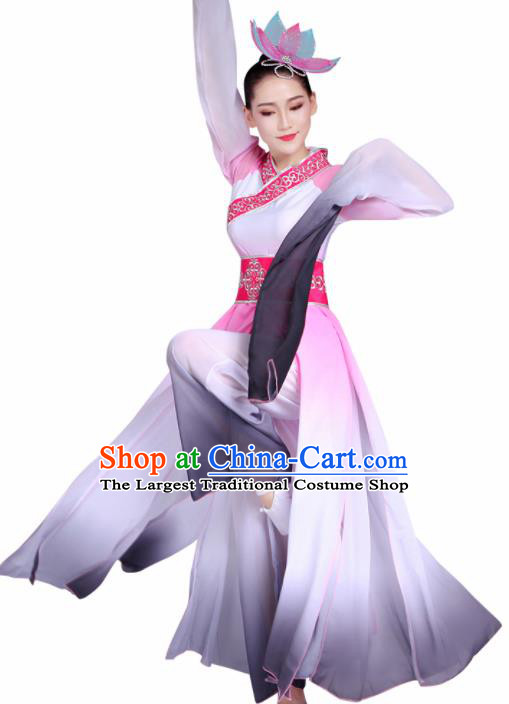 Chinese Traditional Stage Performance Costume Classical Dance Water Sleeve Pink Dress for Women