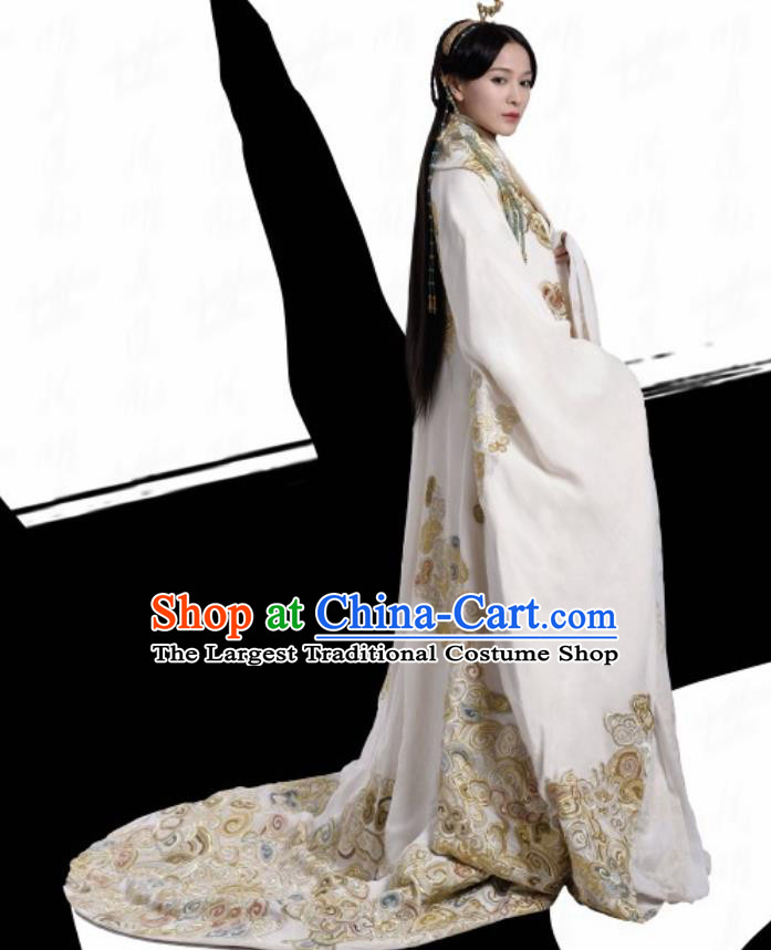 Chinese Ancient Warring States Period Princess Ya The Lengend of Haolan Historical Costume and Headpiece for Women