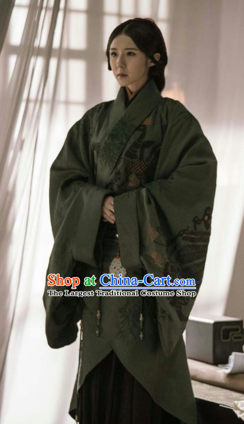 Chinese Ancient Dowager The Lengend of Haolan Warring States Period Historical Costume and Headpiece Complete Set