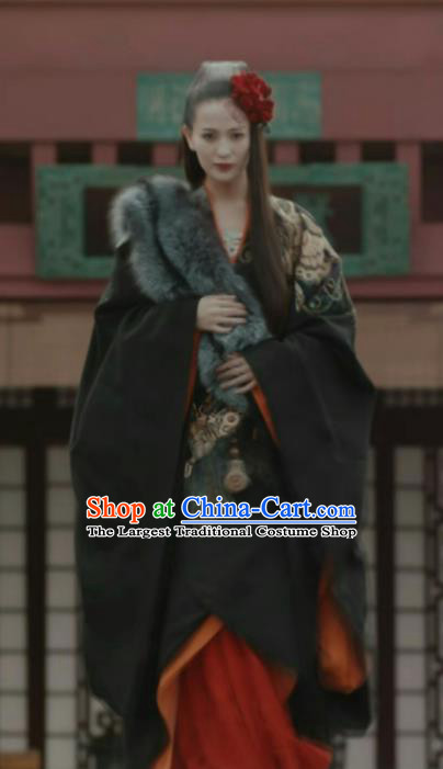 Chinese Ancient Court Princess The Lengend of Haolan Warring States Period Historical Costume and Headpiece Complete Set