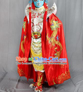 Chinese Traditional Sichuan Opera Embroidered Red Cloak and Costume Face Changing Clothing Complete Set for Men