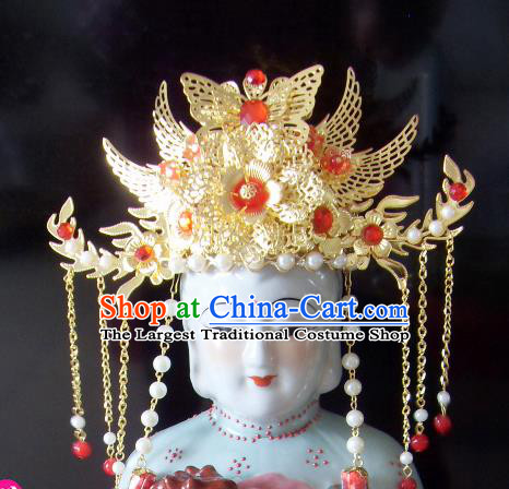 Chinese Traditional Goddess Hair Accessories Ancient Queen Mother Phoenix Coronet for Women
