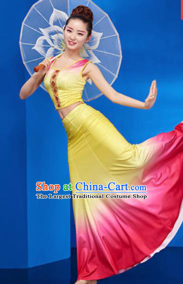 Chinese Traditional Ethnic Folk Dance Dress Dai Nationality Peacock Dance Costume for Women
