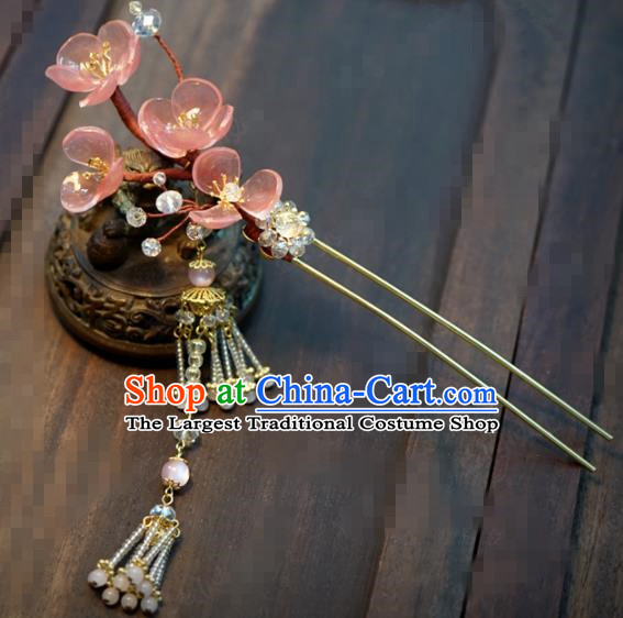 Chinese Traditional Hair Accessories Ancient Bride Hairpins Handmade Tassel Step Shake Headwear for Women