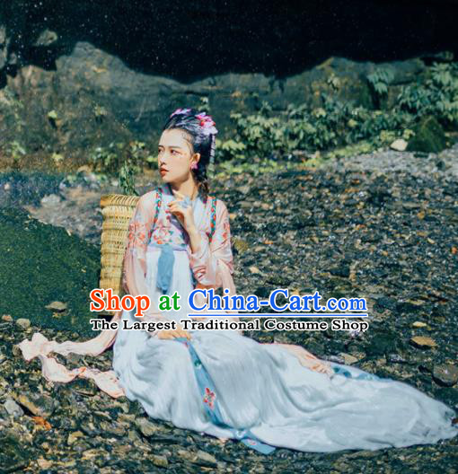Chinese Traditional Tang Dynasty Nobility Lady Hanfu Dress Ancient Palace Princess Costume for Women