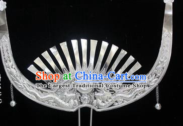 Traditional Chinese Miao Nationality Wedding Hair Accessories Hmong Ethnic Female Sliver Dragon Hairpins for Women