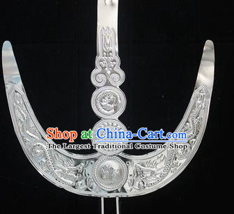 Traditional Chinese Miao Nationality Wedding Hair Accessories Hmong Female Sliver Hairpins for Women