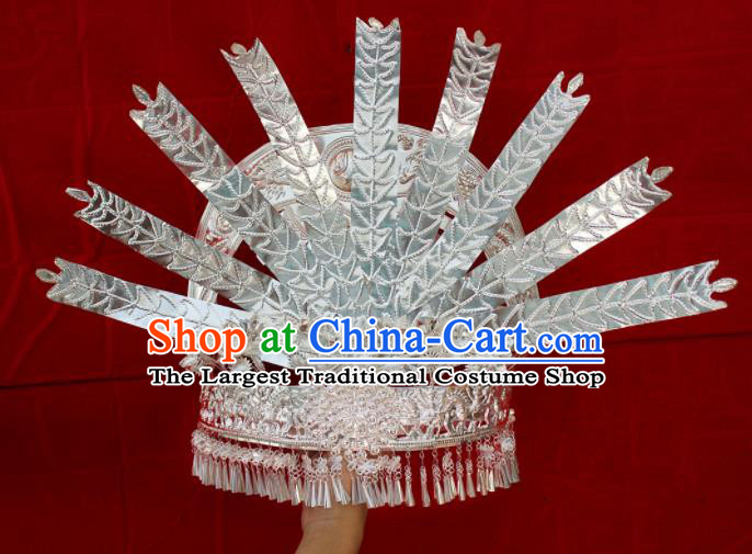 Traditional Chinese Hair Accessories Miao Nationality Phoenix Coronet Ethnic Female Hairpins for Women