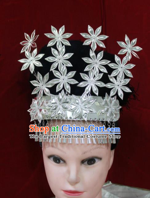 Traditional Chinese Hair Accessories Miao Nationality Sliver Ethnic Female Hairpins for Women