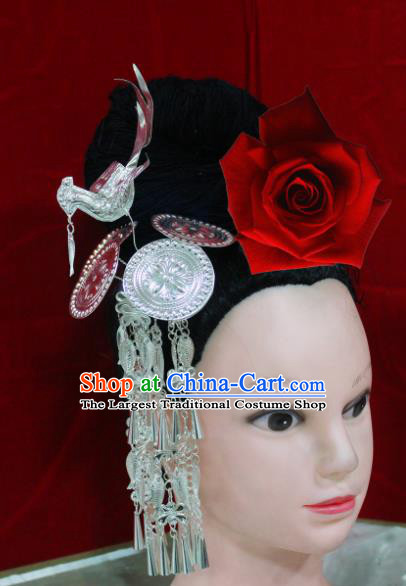 Traditional Chinese Hair Accessories Tassel Step Shake Miao Nationality Sliver Ethnic Female Hairpins for Women