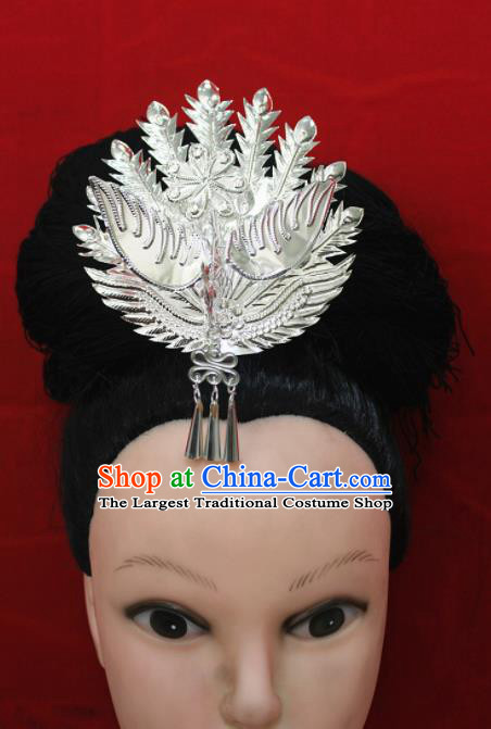 Traditional Chinese Hair Accessories Miao Nationality Sliver Phoenix Ethnic Female Hairpins for Women