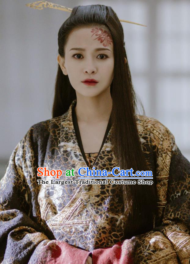 The Lengend Of Haolan Chinese Ancient Hanfu Dress Warring States Period Princess Historical Costume and Headpiece for Women