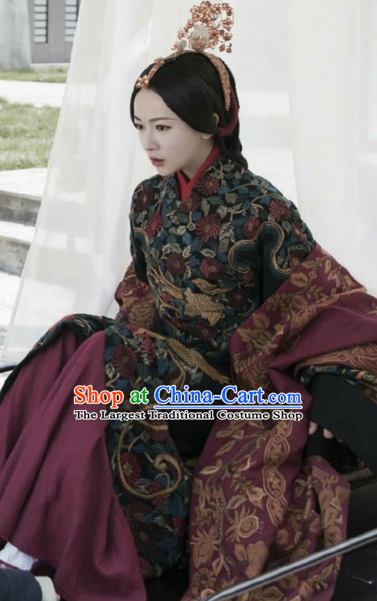 The Lengend Of Haolan Chinese Ancient Imperial Consort Hanfu Dress Warring States Period Historical Costume and Headpiece for Women