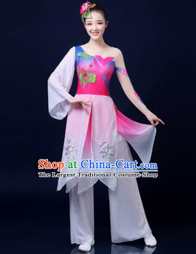 Traditional Chinese Folk Dance Jasmine Flower Clothing Yangko Dance Fan Dance Costume for Women