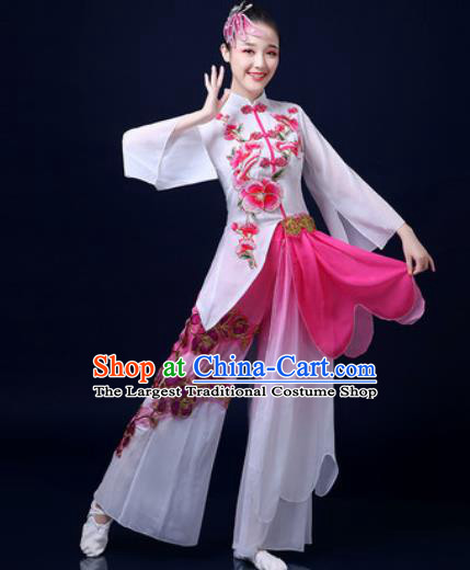 Traditional Chinese Classical Dance Dress Umbrella Dance Stage Performance Fan Dance Costume for Women
