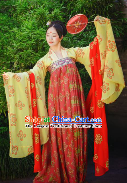 Traditional Chinese Tang Dynasty Imperial Consort Historical Costumes Ancient Bride Hanfu Dress for Women