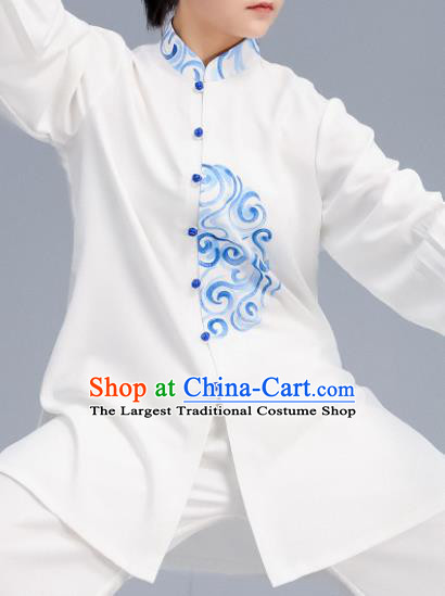 Asian Chinese Martial Arts Wushu Embroidered Costume Traditional Tai Ji Kung Fu Training Uniform for Women