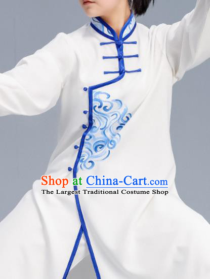 Asian Chinese Martial Arts Wushu Costume Traditional Tai Ji Kung Fu Training Embroidered Uniform for Women