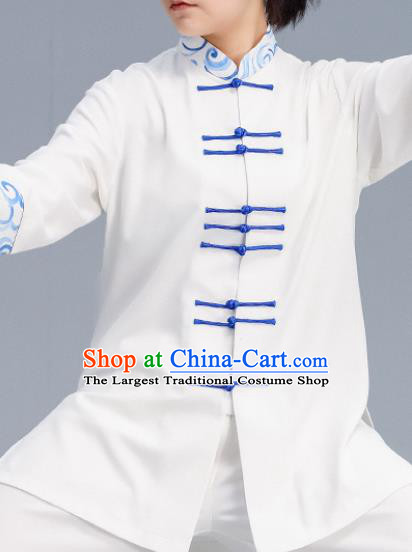 Asian Chinese Martial Arts Wushu Costume Traditional Tai Ji Tang Suit Kung Fu Training Uniform for Women