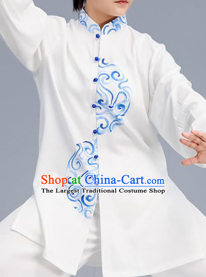 Asian Chinese Martial Arts Wushu Embroidered Costume Traditional Tai Ji Tang Suit Kung Fu Training Uniform for Women