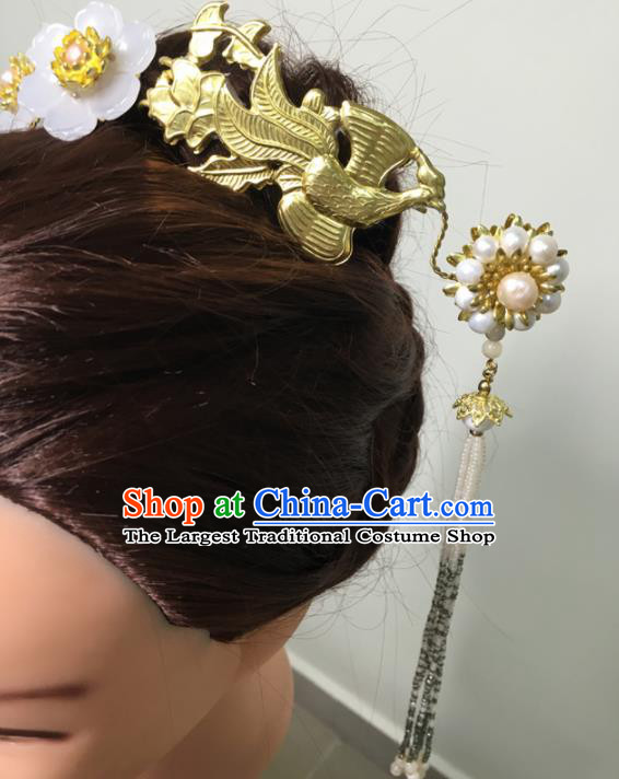 Traditional Chinese Hanfu Palace Phoenix Hair Clip Hair Accessories Ancient Imperial Consort Hairpins for Women